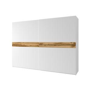 2- dveřová skříň, bílá / dub Wotan, NAGAMA