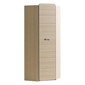 Rohová skříň, věšáková, jasan/fialová, EGO L14