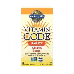 Vitamín D3 RAW - 2000IU - 60 kapslí