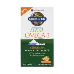 Minami Nutrition Omega - 3 Vegan DHA z mořské řasy - s příchutí pomeranče