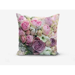 Povlak na polštář s příměsí bavlny Minimalist Cushion Covers Roses, 45x45cm