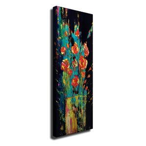 Nástěnný obraz na plátně Vintage Flowers, 30 x 80 cm