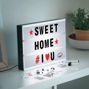 Světelná tabule s písmeny a tužkou InnovaGoods Cinema Box