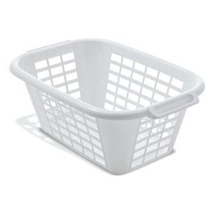 Bílý koš na prádlo Addis Rect Laundry Basket, 40 l