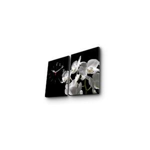 Dekorativní nástěnné hodiny Květy, 64x40 cm