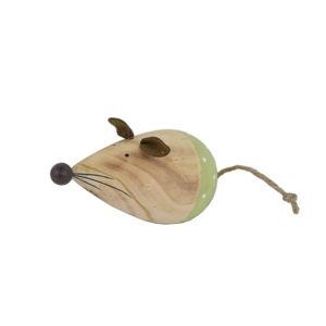 Dřevěná velikonoční dekorace se zelenými detaily Ego Dekor Mouse