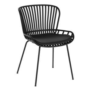 Černá zahradní židle s ocelovou konstrukcí La Forma Surpik