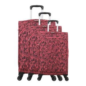 Sada 3 růžových zavazadel na 4 kolečkách Lulucastagnette Casandra