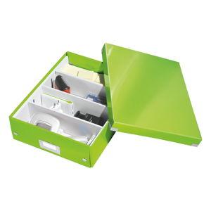 Zelený box s organizérem Leitz Office, délka 37 cm