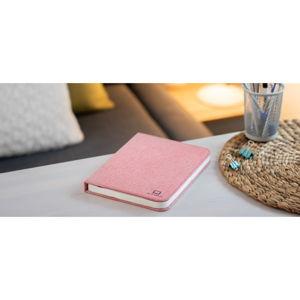 Růžová velká LED stolní lampa ve tvaru knihy Gingko Booklight
