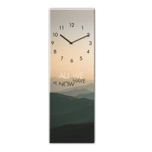 Nástěnné hodiny Styler Glassclock Mountains, 20 x 60 cm