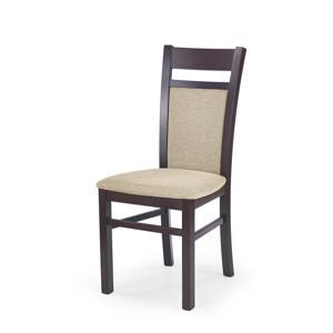 GERARD2 židle tmavý ořech / polstrování: torent beige