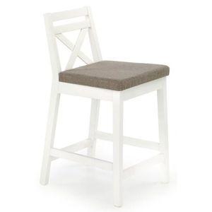 BORYS LOW židle barové nízké bílá / polstrování: inari 23