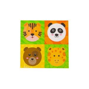Sada 16 papírových ubrousků GiviItalia Zoo Party, 33 x 33 cm