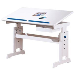 BARU psací stůl bílý-růžový-modrý