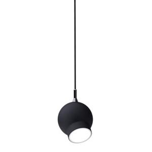 Lustr - lampa závěsná OJO dlouhá kov/černá bílá/led