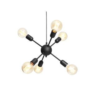 Černé závěsné světlo pro 6 žárovek Custom Form Vanwerk Ball