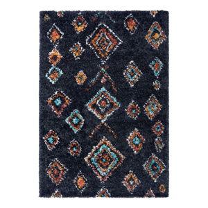 Černý koberec Mint Rugs Phoenix, 80 x 150 cm