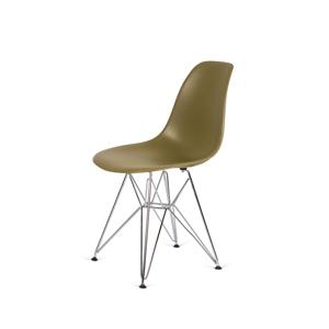 Židle 130-DPP zelený čaj #31 PP + nohy chromové