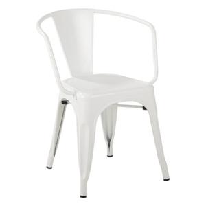 Židle TOWER ARM bílá kov