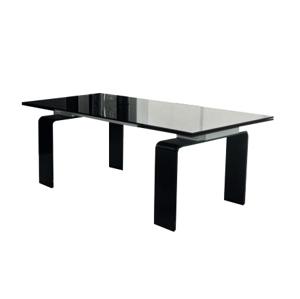 Stůl skleněný ATLANTIS black 140/200 - sklo kalené