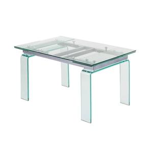 Stůl skleněný ATLANTIS clear 160/240 - sklo kalené