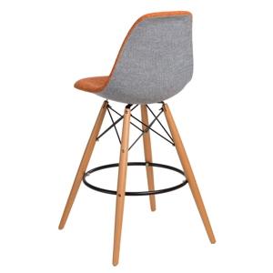 Barová židle P016V DUO oranžová šedá