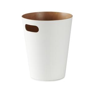 Koš na odpadky WOODROW bílý/přírodní