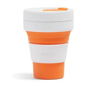 Bílo-oranžový skládací hrnek Stojo Pocket Cup, 355 ml