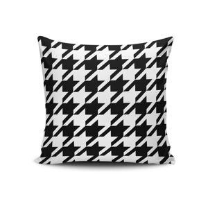 Černo-bílý povlak na polštář Calento Turia, 45 x 45 cm