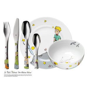 6dílná sada dětských nerezových příborů a nádobí WMF Malý Prince