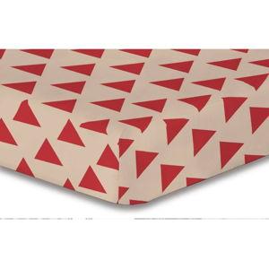 Prostěradlo z mikrovlákna DecoKing Hypnosis Triangles Cintia, 200x220cm