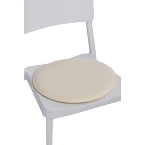 Polštář na židle kulatý přírodní