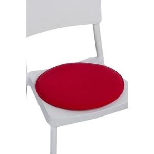 Polštář na židle kulatý červený