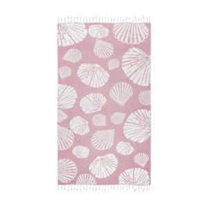 Růžová hammam osuška Kate Louise Fiona, 165x100cm