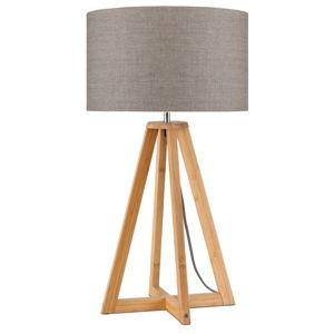 Stolní lampa s béžovým stínidlem a konstrukcí z bambusu Good&Mojo Everest
