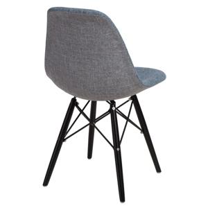 Židle P016V DUO modrá šedá/černá