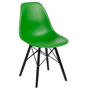 Židle P016V pp tmavě zelená/černá