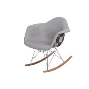 Židle P018 RAR vzor šedá/patchwork