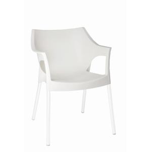 Židle POLE DELUXE bílá