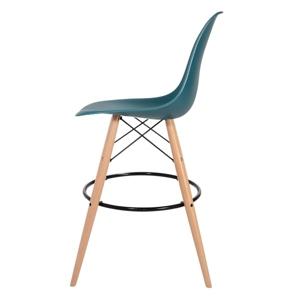 Barová židle DSW WOOD námořnická modrá č.23 - základ je z bukového dřeva