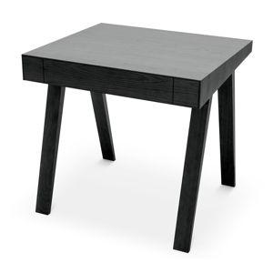 Černý stůl s nohami z jasanového dřevaEMKO,80x70cm