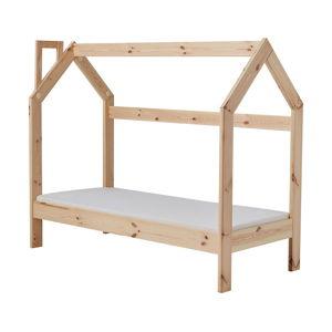 Dětská dřevěná postel ve tvaru domečku Pinio House, 160 x 70 cm