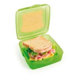 Zelený svačinový box na sendvič Snips Sandwich, 500ml