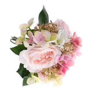 Umělá dekorativní kytice hortenzií a růži Dakls Pulio