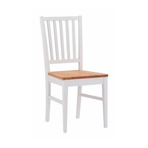 Bílá dubová jídelní židle Rowico Filippa