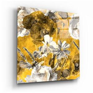 Skleněný obraz Insigne Daisies,40 x40cm