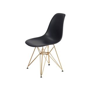 Židle DSR GOLD asfaltová šeď č.39 - kovově zlatavý základ