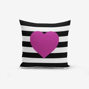 Povlak na polštář s příměsí bavlny Minimalist Cushion Covers Purple,45x45cm