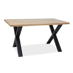 Stůl XAVIERO II dýha přírodní/dub 150x90